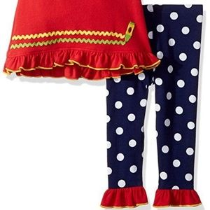 Bonnie Baby Matching Sets - Bonnie Baby Girl Owl School Legging Set Outfit 12M